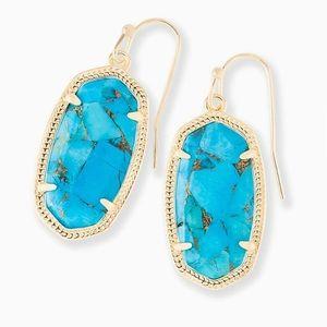 NWT Kendra Scott Dani Gold Drop in Turquoise